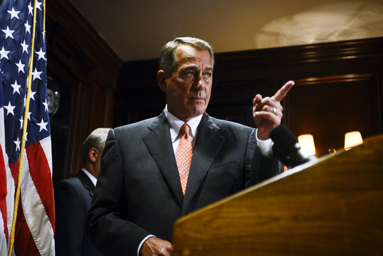 After representatives returned from their summer break, Boehner held a press conference in the Republican National Committee headquarters. With the crucial 2014 midterm election only weeks away, the GOP leadership team laid out their legislative goals for the remaining session of the 113th Congress and their vision for the future.